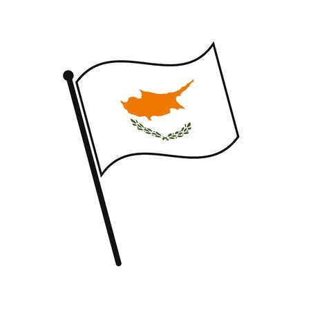 Simple flag Cyprus icon isolated on white background