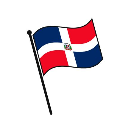 Simple flag Dominican Republic icon isolated on white background 일러스트