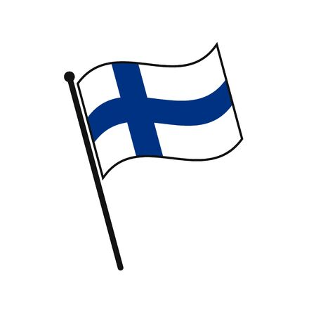 Simple flag Finland icon isolated on white background 일러스트
