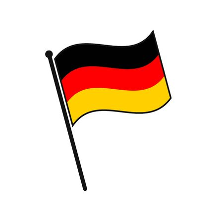 Simple flag Germany icon isolated on white background