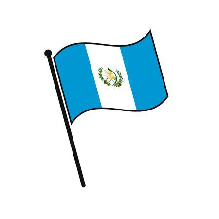 Simple flag Guatemala icon isolated on white background