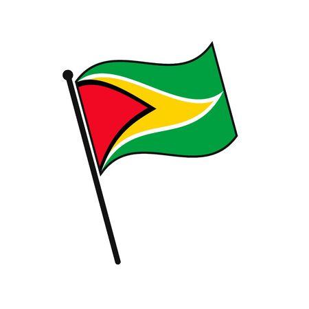 Simple flag Guyana icon isolated on white background 일러스트