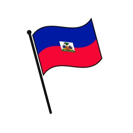 Simple flag Haiti icon isolated on white background 일러스트