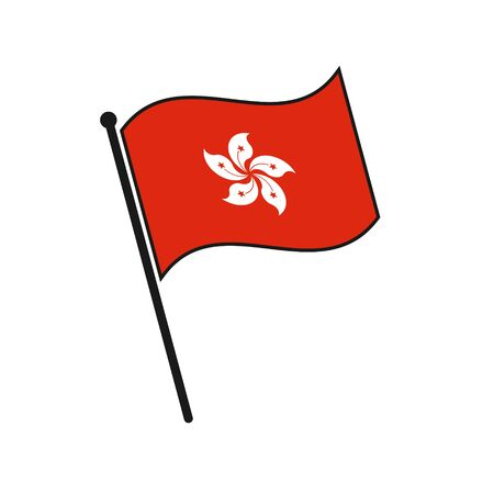 Simple flag Hong Kong icon isolated on white background 일러스트