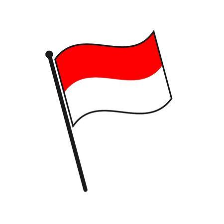 Simple flag Indonesia icon isolated on white background 일러스트