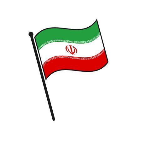 Simple flag Iran icon isolated on white background 일러스트
