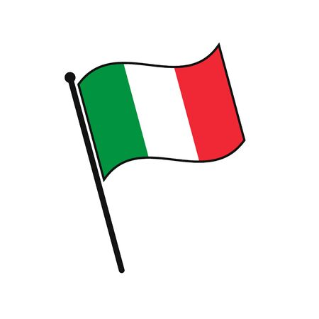 Simple flag Italy icon isolated on white background 일러스트