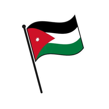 Simple flag Jordan icon isolated on white background 일러스트