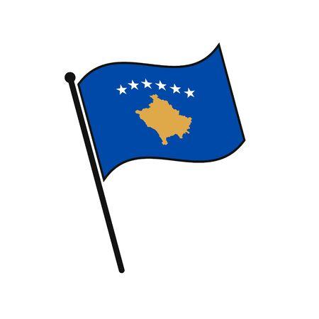 Simple flag Kosovo icon isolated on white background 일러스트