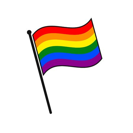Simple flag LGBT icon isolated on white background