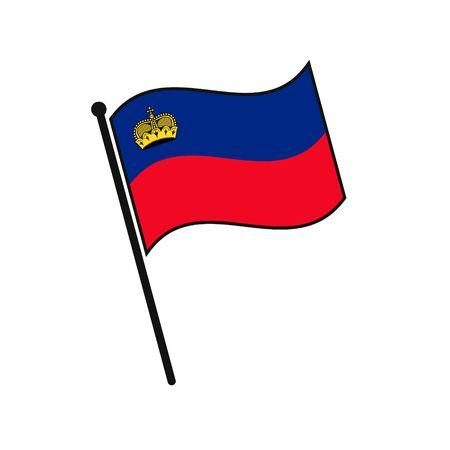 Simple flag Liechtenstein icon isolated on white background 일러스트