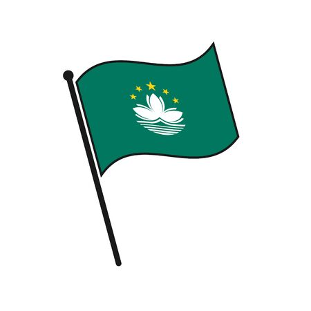 Simple flag Macau icon isolated on white background 일러스트