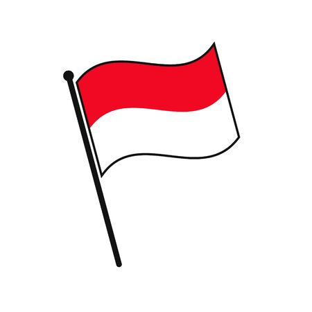 Simple flag Monaco icon isolated on white background