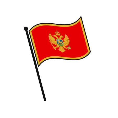 Simple flag Montenegro icon isolated on white background 일러스트