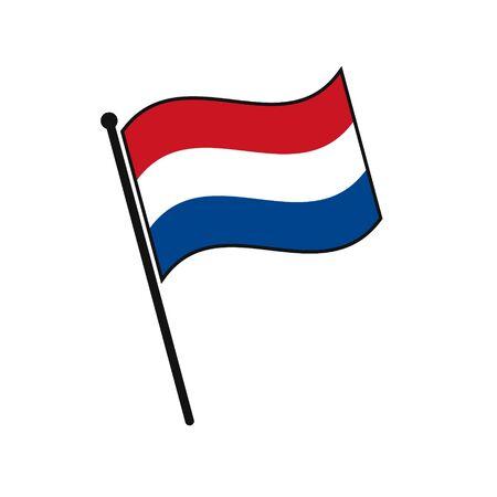 Simple flag Netherlands icon isolated on white background 일러스트