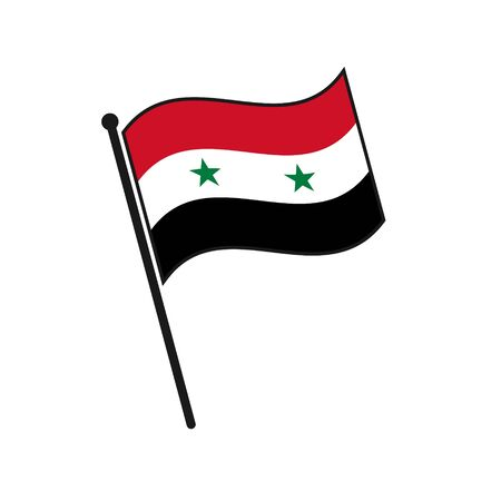 Simple flag Syria icon isolated on white background Vecteurs