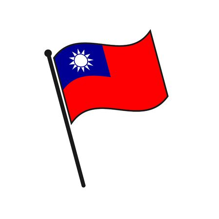 Simple flag Taiwan icon isolated on white background