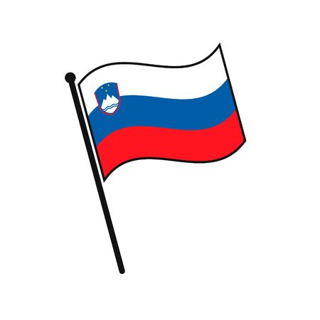 Simple flag Slovenia icon isolated on white background Иллюстрация