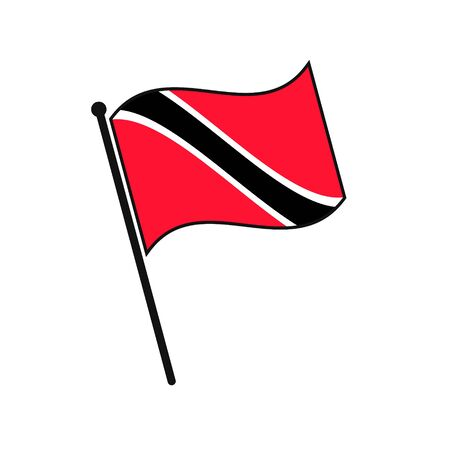 Simple flag Trinidad and Tobago icon isolated on white background