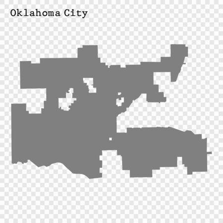 High quality Map Oklahoma City. vector illustration