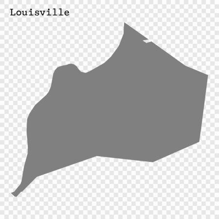 High quality Map Louisville City. vector illustration Stock Illustratie