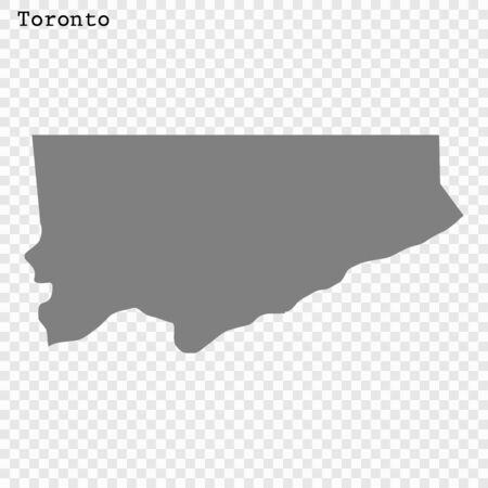 High quality Map Toronto City. vector illustration