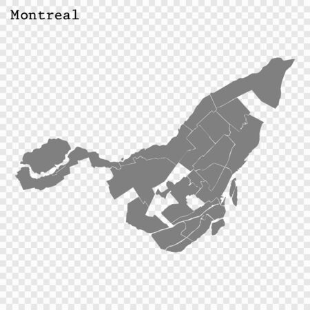 High quality Map Montreal City. vector illustration