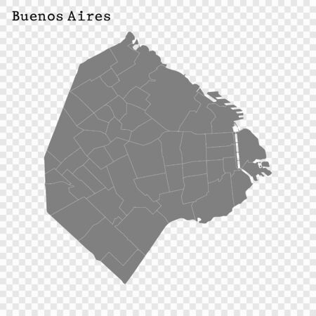 High quality Map Buenos Aires City. vector illustration
