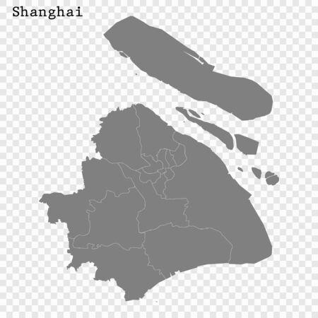 High quality Map Shanghai City. vector illustration