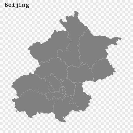 High quality Map Beijing City. vector illustration Stock Illustratie