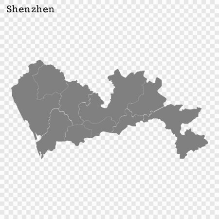 High quality Map Shenzhen City. vector illustration