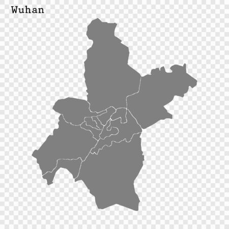 High quality Map Wuhan City. vector illustration