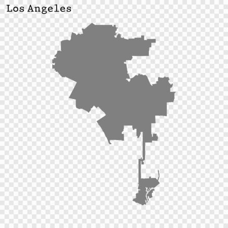 High quality Map Los Angeles City. vector illustration