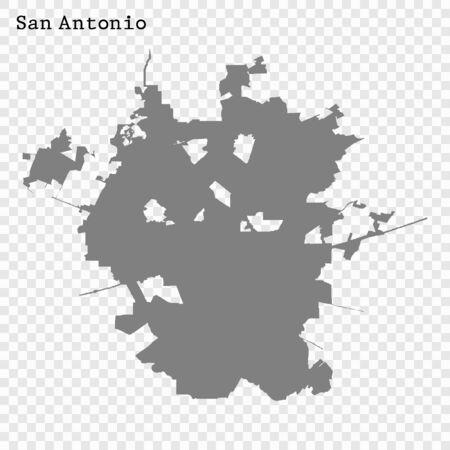 High quality Map San Antonio City. vector illustration