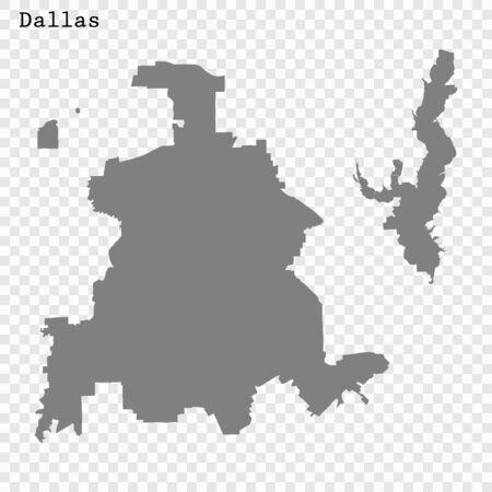 High quality Map Dallas City. vector illustration