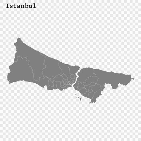 High quality Map Istanbul City. vector illustration Çizim
