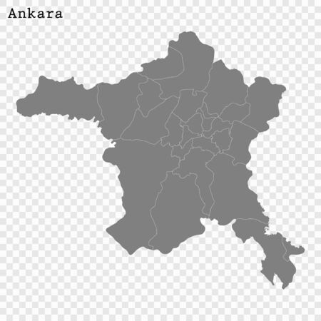 High quality Map Ankara City. vector illustration