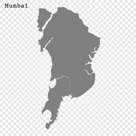 High quality Map Mumbai City. vector illustration Çizim
