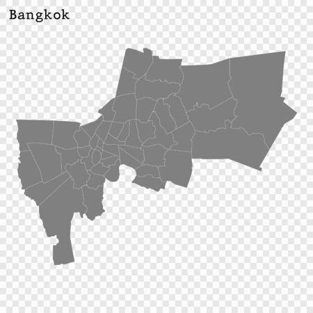 High quality Map Bangkok City. vector illustration Stock Illustratie