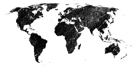 map of the world in grunge style.