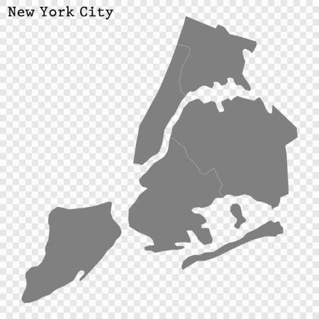 High quality Map New York City. vector illustration