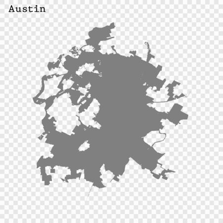 High quality Map Austin City. vector illustration Çizim
