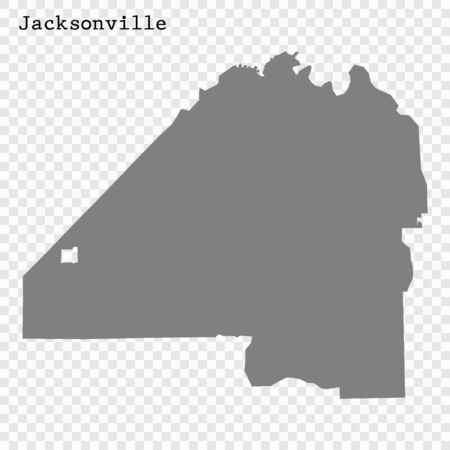 High quality Map Jacksonville City. vector illustration