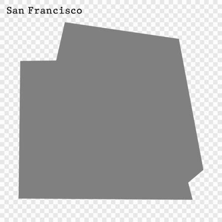 High quality Map San Francisco City. vector illustration