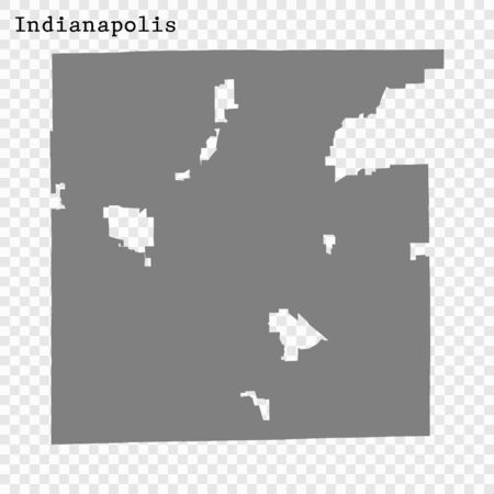 High quality Map Indianapolis City. vector illustration Çizim