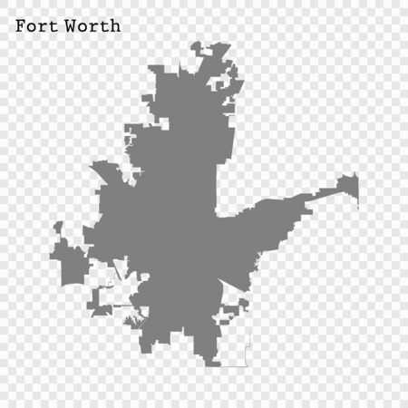 High quality Map Fort Worth City. vector illustration