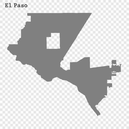 High quality Map El Paso City. vector illustration
