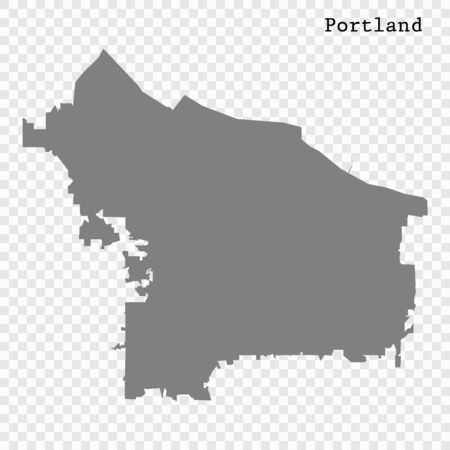 High quality Map Portland City. vector illustration
