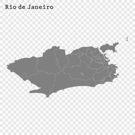 High quality Map Rio de Janeiro City. vector illustration Ilustracja