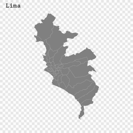 High quality Map Lima City. vector illustration